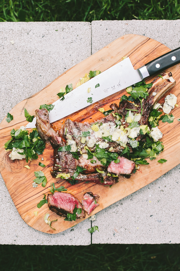 Rib Eye with a Parsley Salad