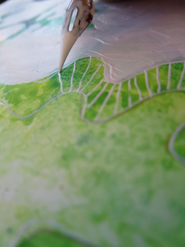 Adding abstract lines as leaf detail