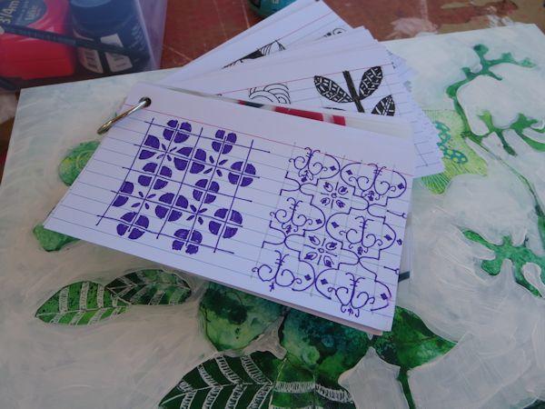 Geometric design card inspiration