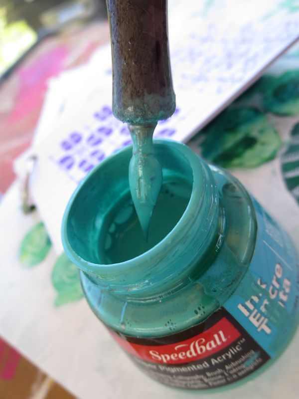 Using teal colored ink