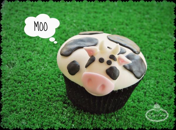 Fondant Cow Cupcake Tutorial