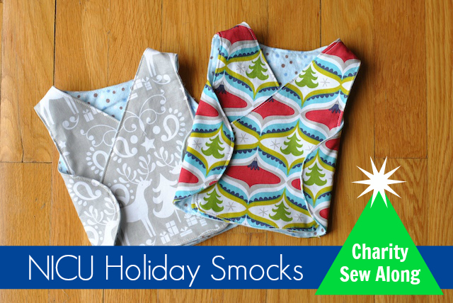 NICU Holiday Smocks Charity Sew Along