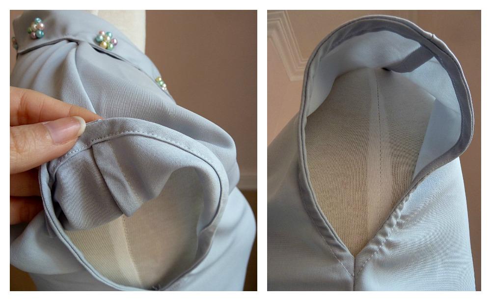 Bias bound sleeves