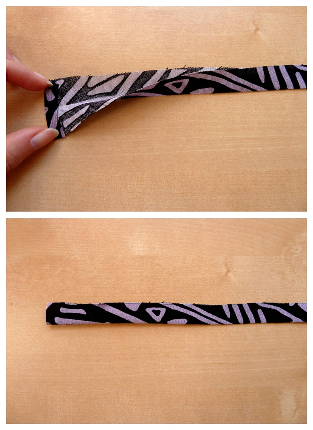 Bias fabric strips
