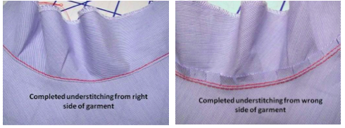 Press the facing down to the underside of the garment.