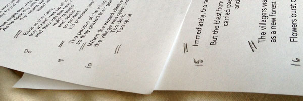 Marking the manuscript to fit the page count
