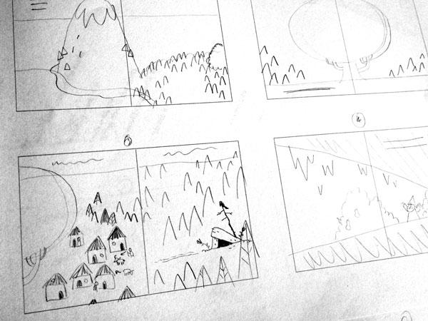 Storyboard in progress
