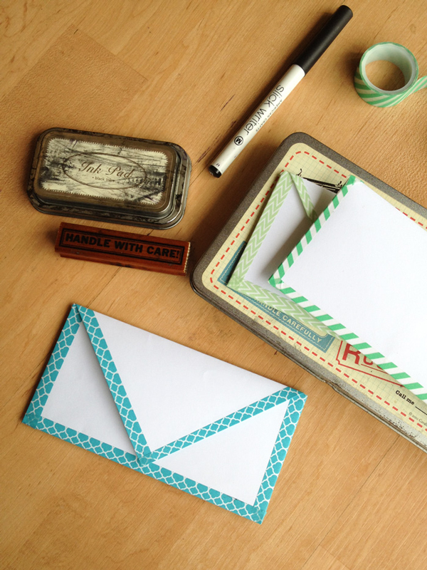 Envelope Edges Lined with Washi Tape