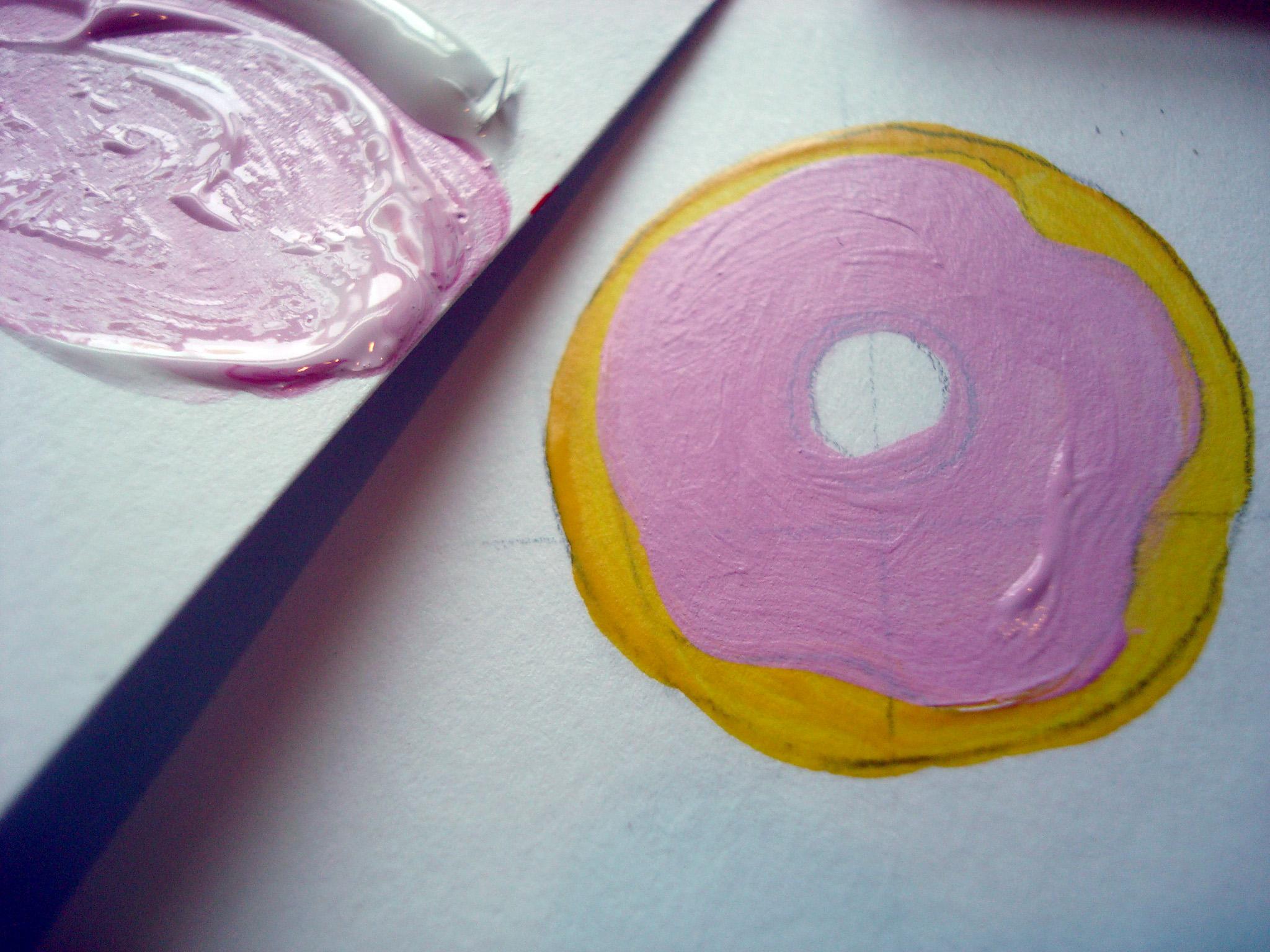 Acrylic donut painting