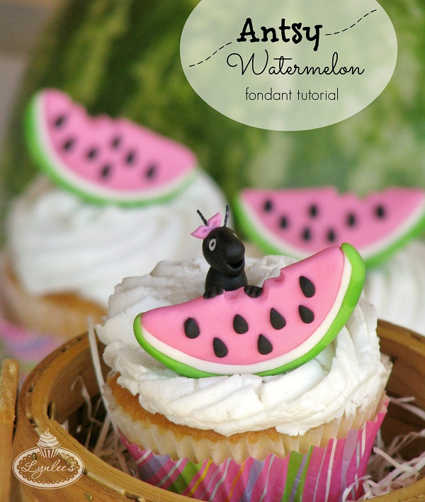 Antsy Watermelon fondant topper tutorial