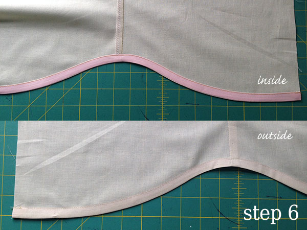 Stitching your bias tape down