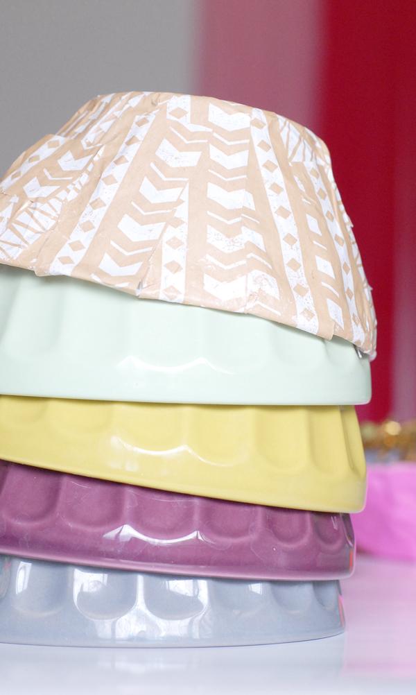 Diy molded paper bowls