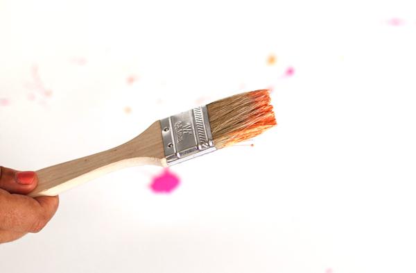 Paint on a Paintbrush