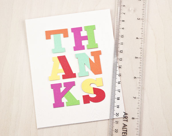 DIY Color Block Thank You Card (Step 3)
