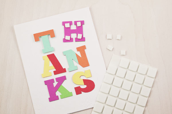 DIY Color Block Thank You Card (Step 4)
