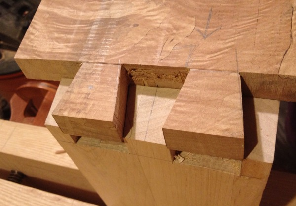 dovetail tails and pins