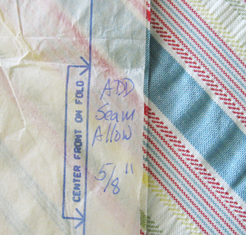 example of cutting single layer fabric