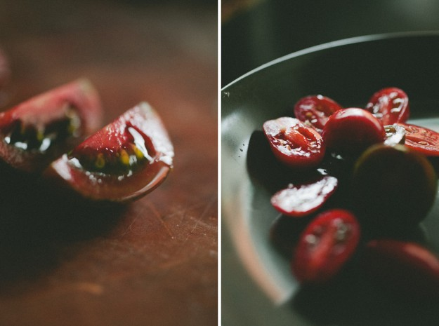 Using directional light to photograph tomatoes
