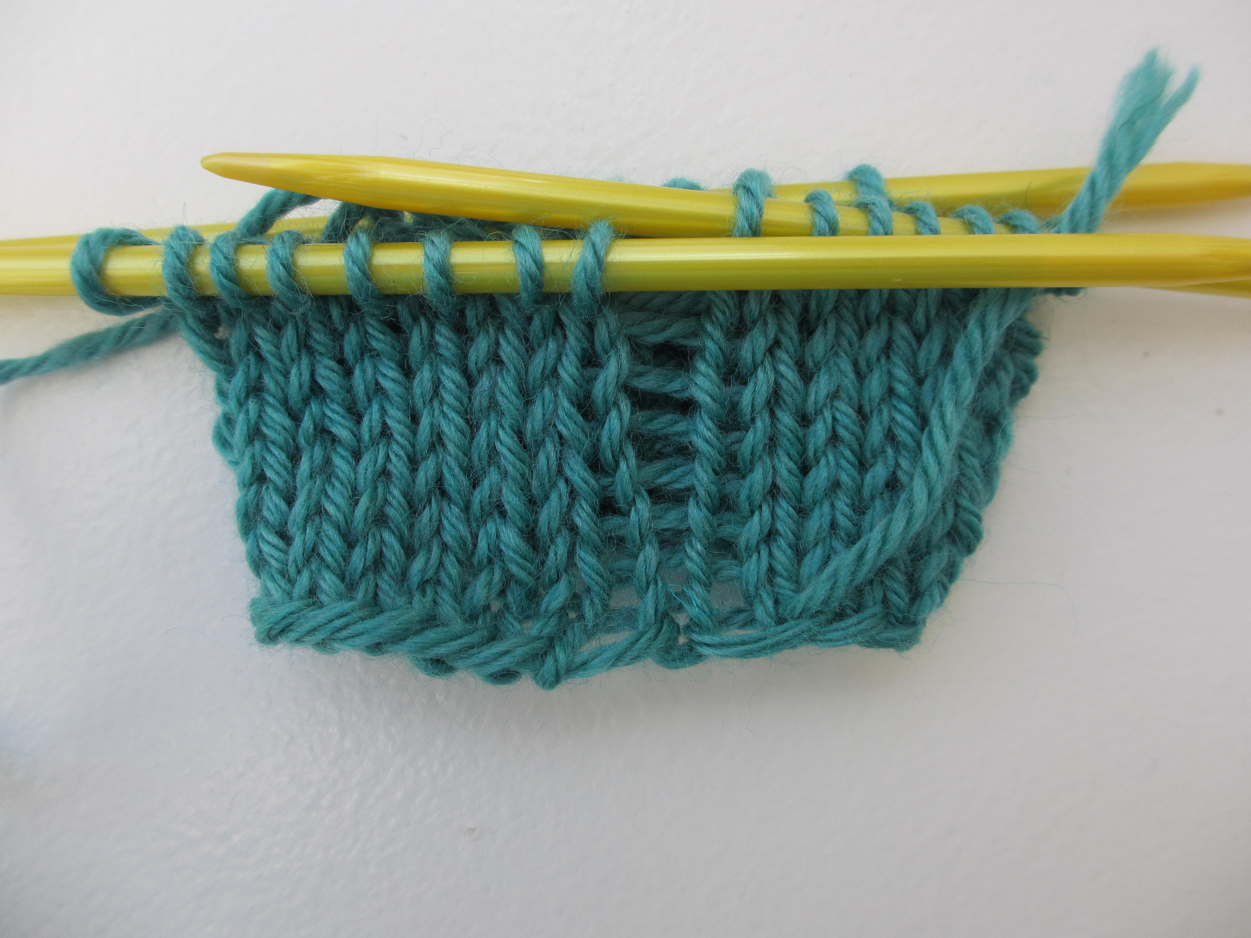 Fix laddering in knitting