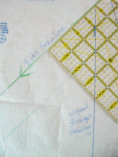 drawing bias line on pattern