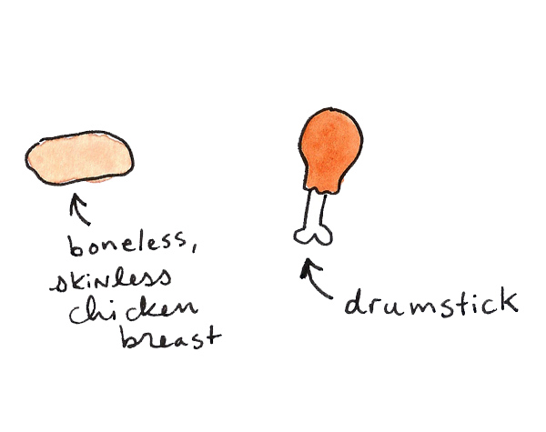Drumstick versus chicken breast
