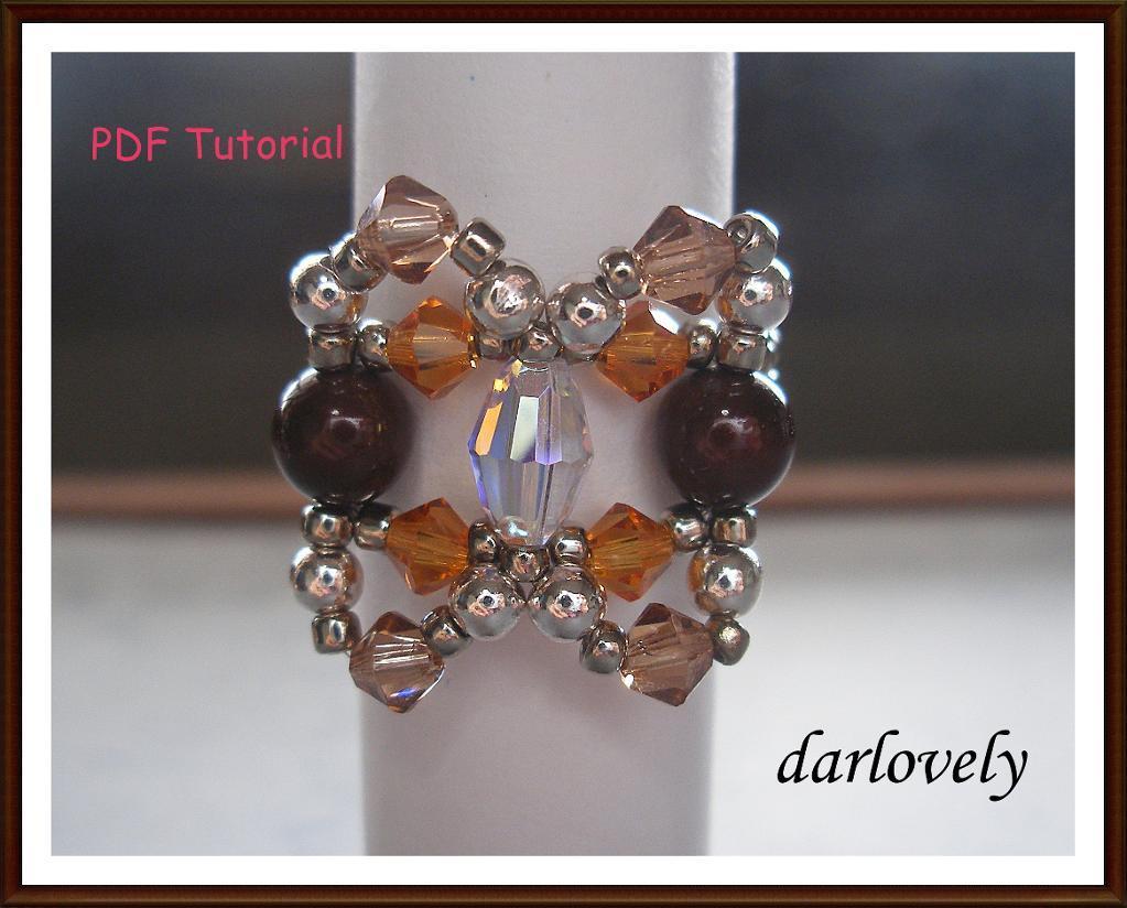 Copper Pearl Topaz Ring