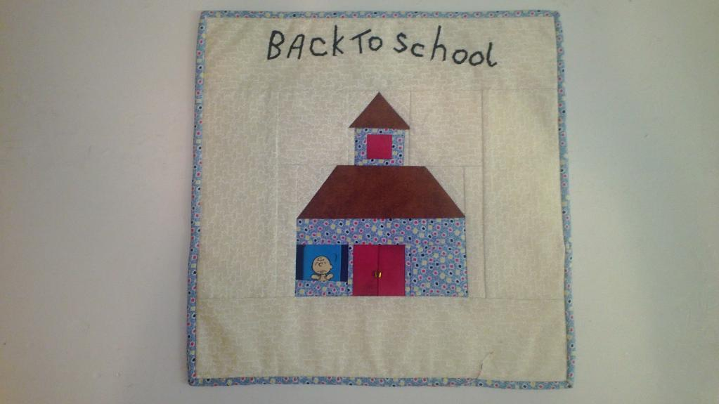 Back to school quilt