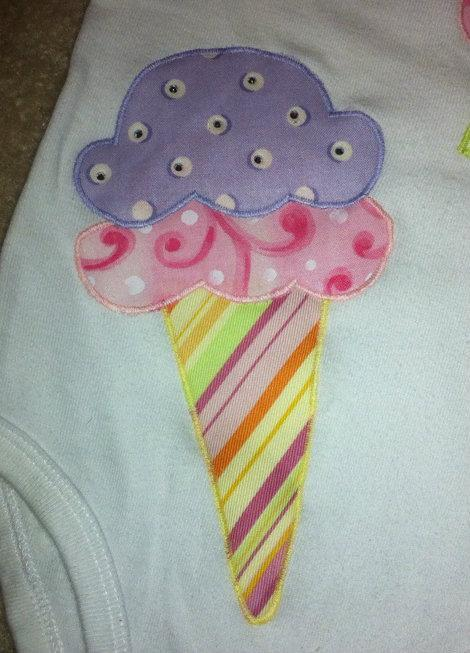 Cupcake and Ice Cream Applique Sewing Pattern
