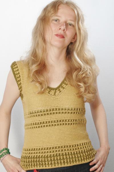Tunisian crochet tennis vest