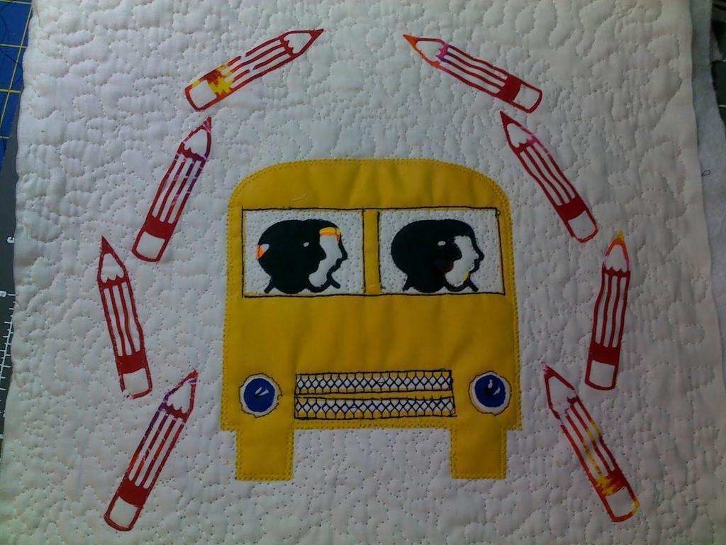 School bus quilt