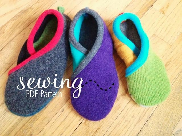 Crossover Slippers sewing pattern