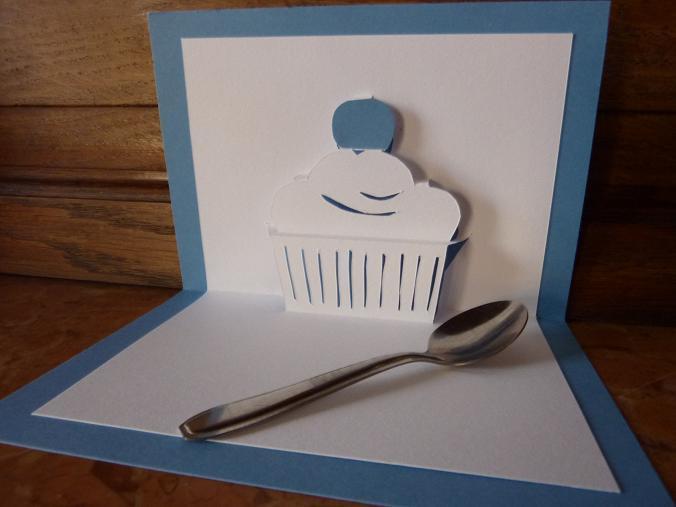 Kirigami Cupcake Paper Crafts Pattern