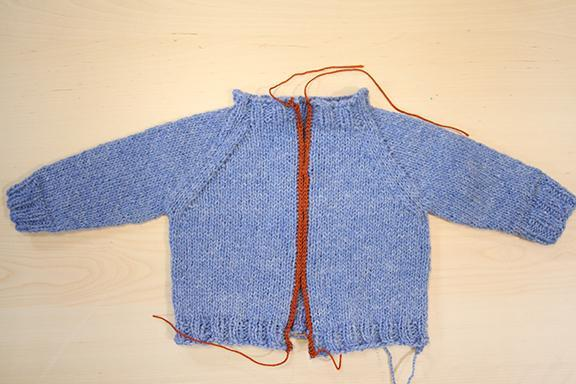 Knit steeked sweater