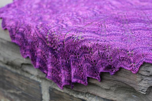 Knitted Clarus shawl