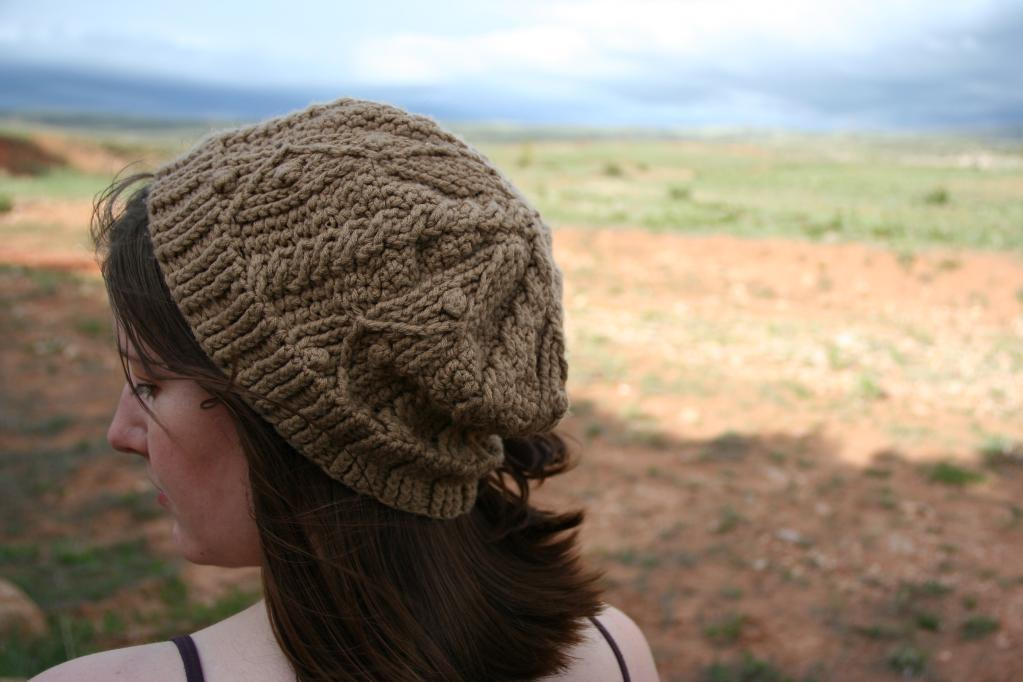 Gwens Cables Crocheted Hat