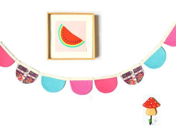 Birthday pennant flags sewing pattern