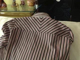 striped jeans jacket