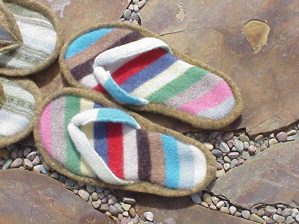 Upcycled Sweater Flip Flops Pattern