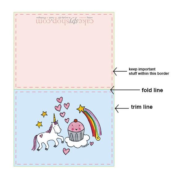 Formatting greeting card art