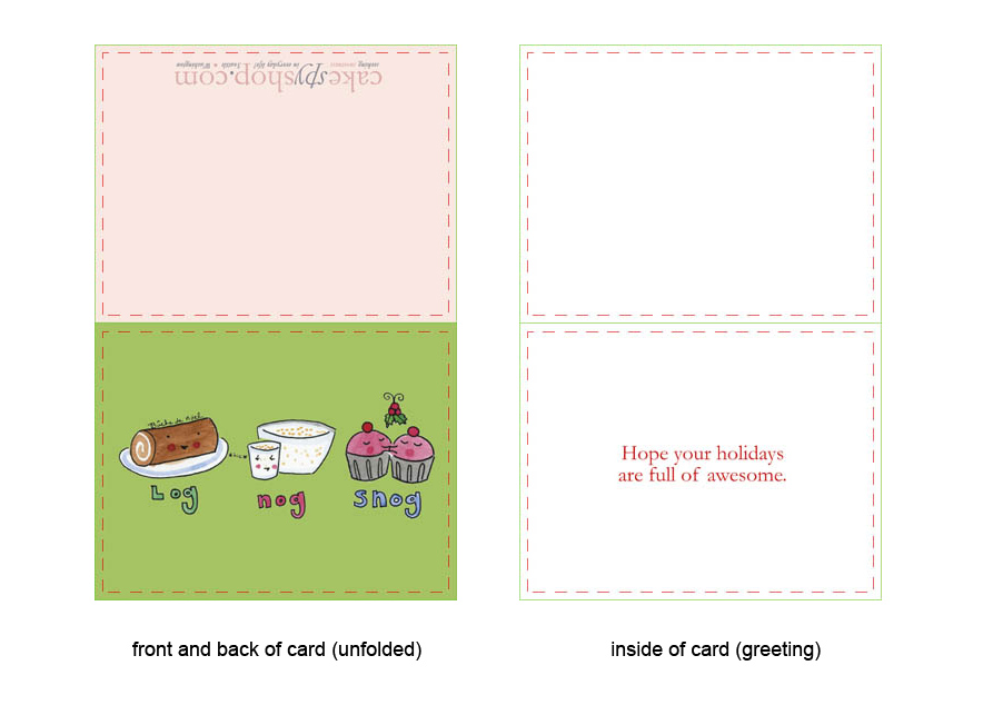 Greeting card front and inside