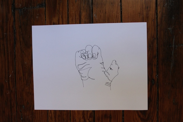 hand contour drawing