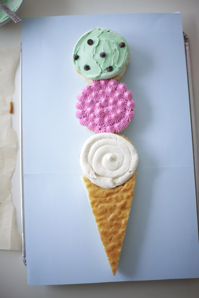 Decorating your ice cream cone cake