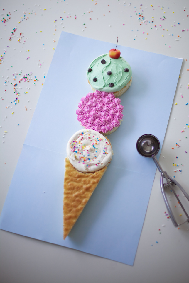 Yummy Ice Cream Cone Cake!