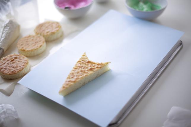A cone-shaped cake