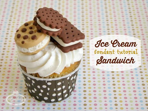 Ice Cream Sandwich Fondant Tutorial