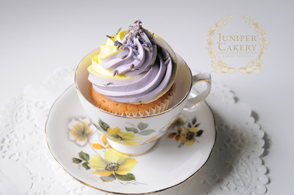 Lemon and Lavender Cupcakes in a teacup on Bluprint!