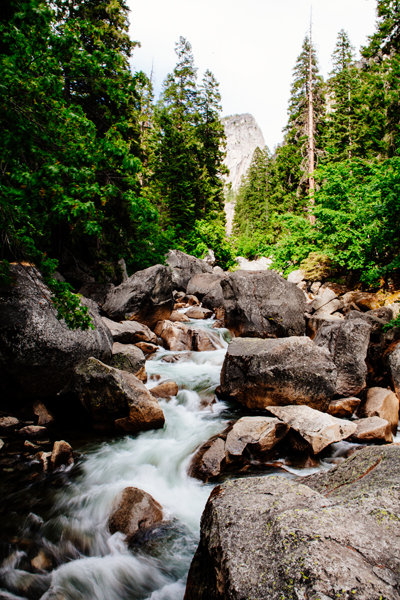 Motion changes the feel of this photo cascading river photo