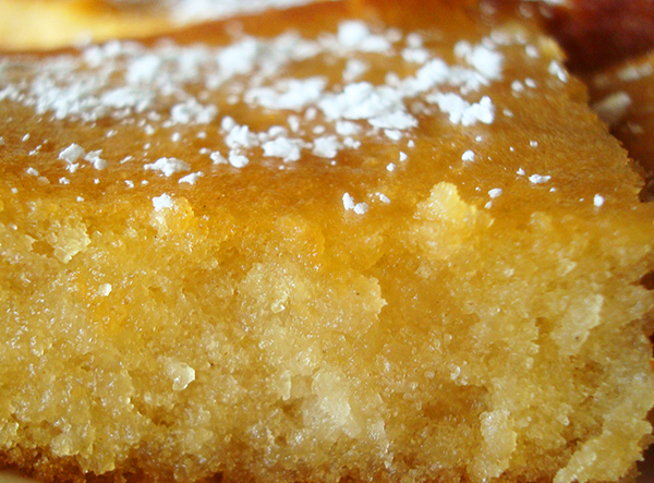 Olive oil cake: so moist!