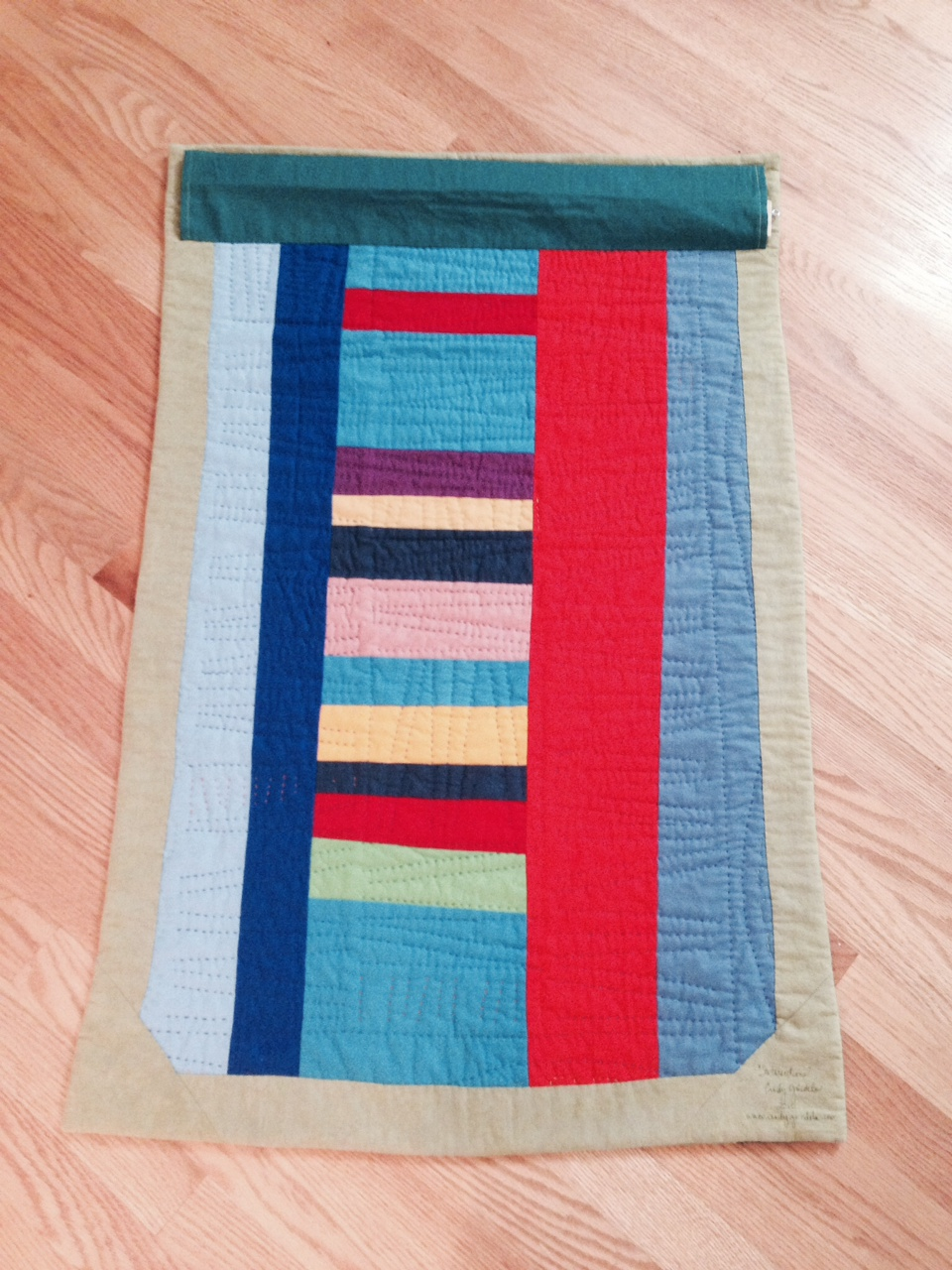 Quilt Back with Colorful Stripes
