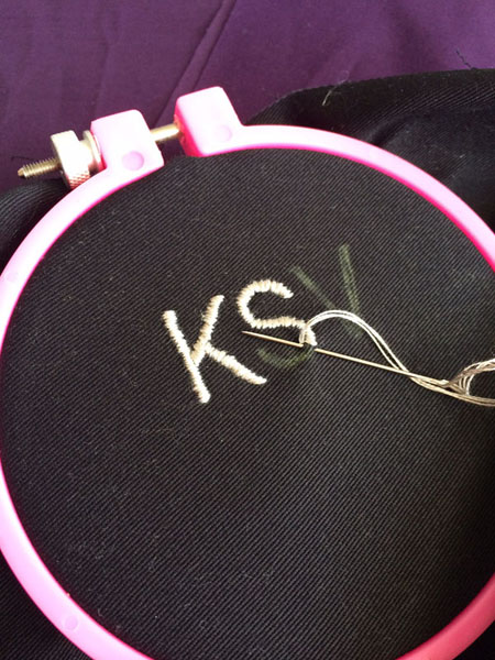 monogram in progress